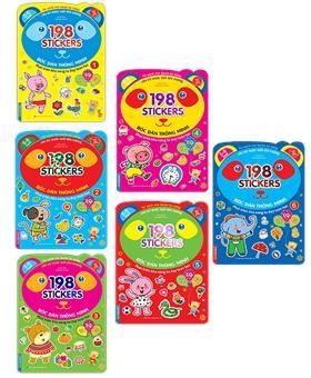 Combo bóc dán hình thông minh phát triển khả năng tư duy toán học IQ EQ CQ (5-6 tuổi) - 198 sticker (6 cuốn)
