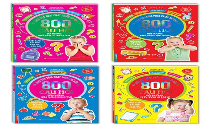 Bộ sách 800 câu hỏi phát triển trí não