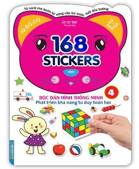 Bóc dán hình thông minh phát triển khả năng tư duy toán học - 168 sticker (quyển 4)