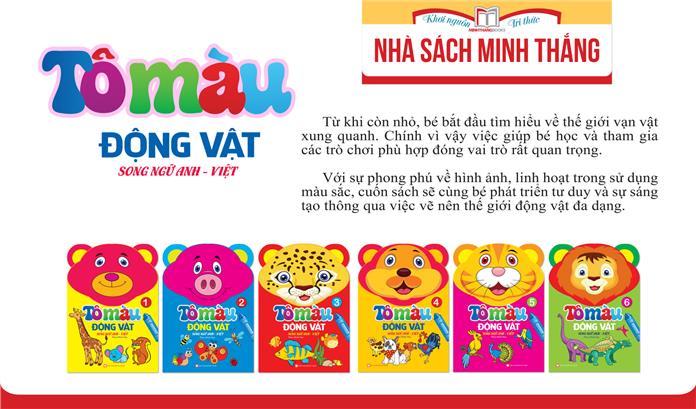 Tô màu động vật - song ngữ Anh Việt