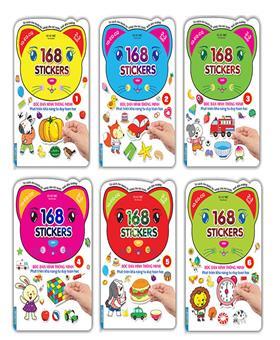 Combo Bóc dán hình thông minh phát triển khả năng tư duy toán học - 168 sticker ( 6 quyển )