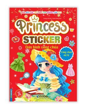 Princess sticker - Dán hình công chúa - Công chúa mỹ lệ