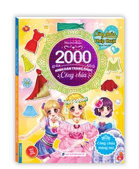 2000 hình dán trang phục công chúa - Công chúa mộng mơ (sách bản quyền)