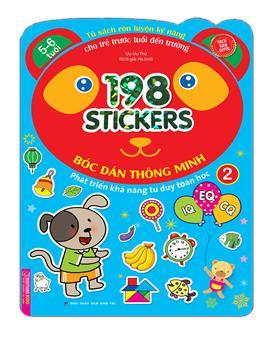 Bóc dán hình thông minh phát triển khả năng tư duy toán học IQ EQ CQ (5-6 tuổi) - 198 sticker (quyển 2)