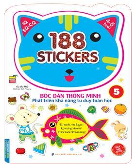 Bóc dán hình thông minh phát triển khả năng tư duy toán học IQ EQ CQ (4-5 tuổi) - 188 sticker (quyển 5)