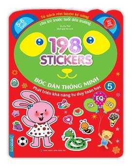 Bóc dán hình thông minh phát triển khả năng tư duy toán học IQ EQ CQ (5-6 tuổi) - 198 sticker (quyển 5)