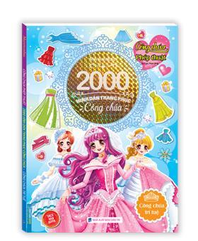 2000 hình dán trang phục công chúa -Công chúa trí tuệ (sách bản quyền)