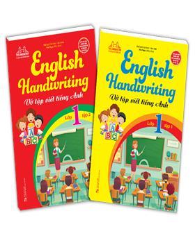 Combo English Handwriting - Vở tập viết tiếng anh lớp 1 (2 cuốn)