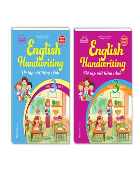 Combo English Handwriting - Vở tập viết tiếng anh lớp 3 (2 cuốn)