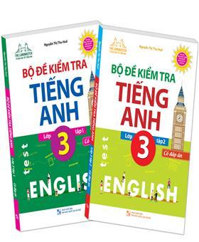 Combo The langmaster - Bộ đề kiểm tra tiếng Anh lớp 3 tập 1+ tập 2 - Có đáp án