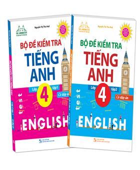 Combo The langmaster - Bộ đề kiểm tra tiếng Anh lớp 4 tập 1+ tập 2 - Có đáp án